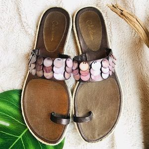 🐚Cole Haan Pink Abalone Sandals